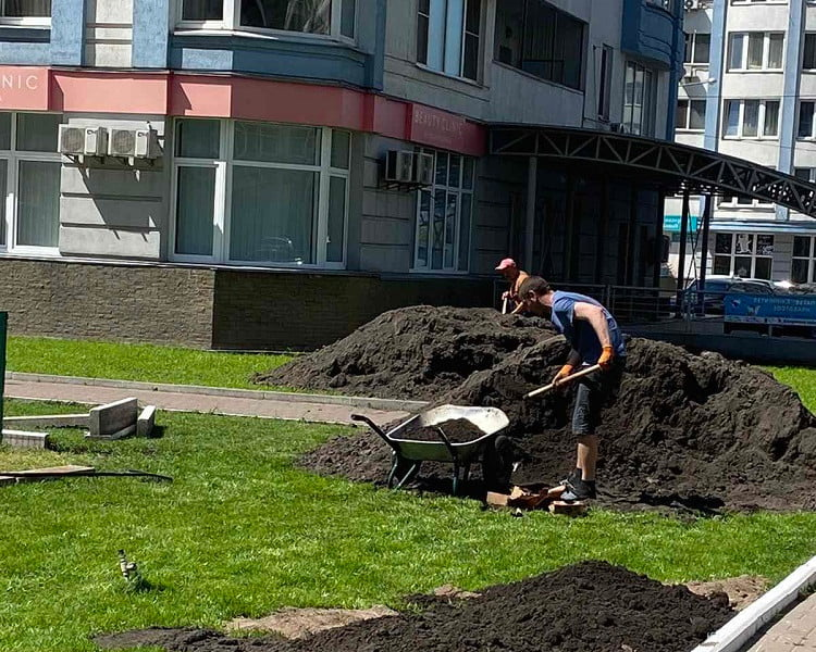 Чорнозем для благоустрою прибудинкової території